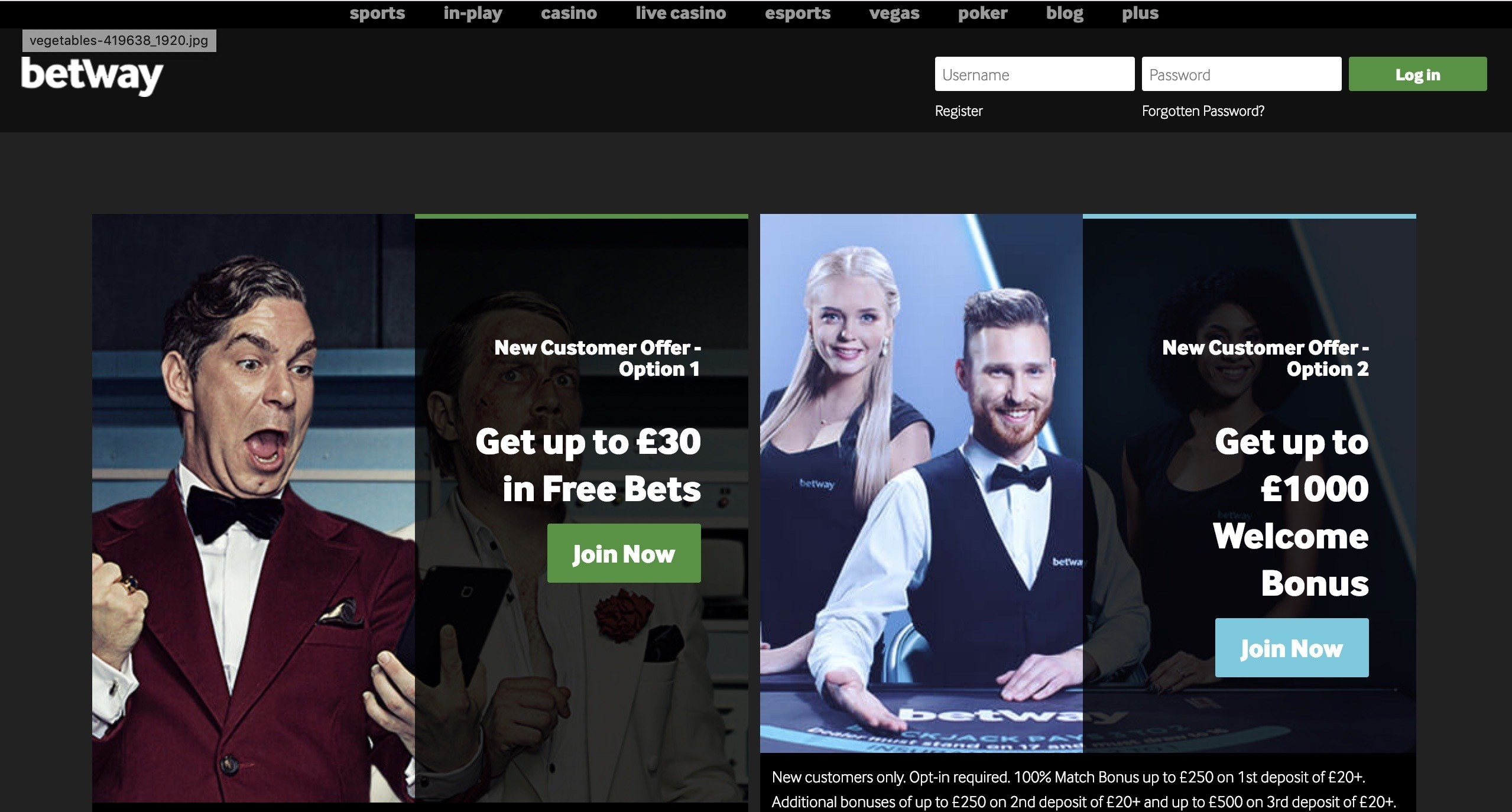 Betway casino 10 pound free money